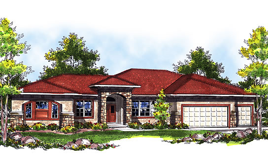 Caribbean house plans affordable 3 bedrooms 2 baths for Caribbean style house plans