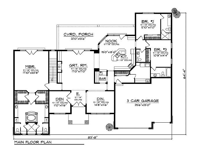 Small Size Home Plans besides D4e4677dd6ce37ae 3000 Square Foot Floor Plans For Ranch Homes likewise Residence With Office as well L Shaped House additionally Free House Plan And Elevation. on single floor kerala house plans