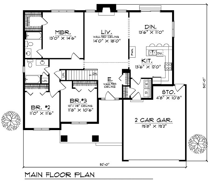 Caribbean House Plans, Affordable 3 Bedrooms, 2 Baths, Colonial ...