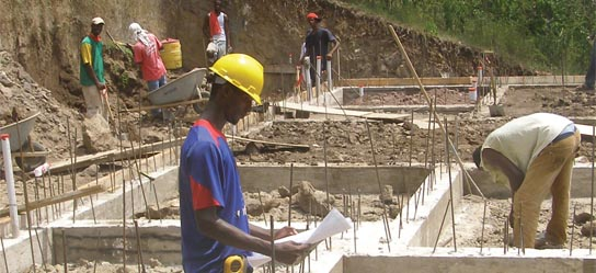 Grenada caribbean construction cost per sq ft house Home building contractor